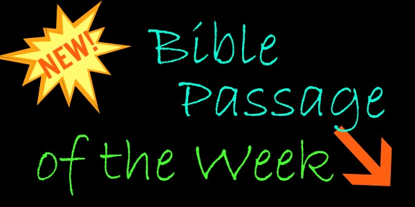 New: Bible Passage of the Week