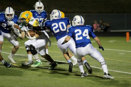 Action from last season's state semifinal game. Carroll will be at Goddard again tonight