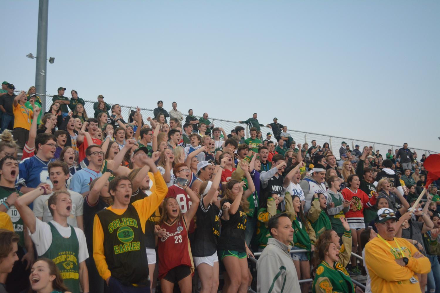 The student sections that Carroll has been bringing out also deserve a shoutout