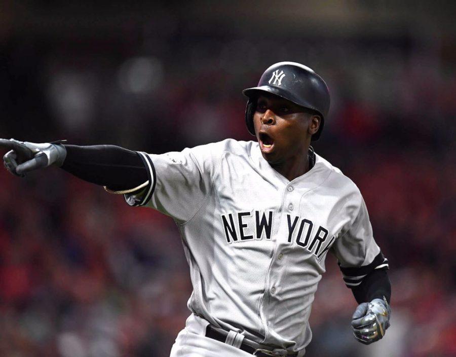 Yankee Shortstop Didi Gregorius celebrating a home run