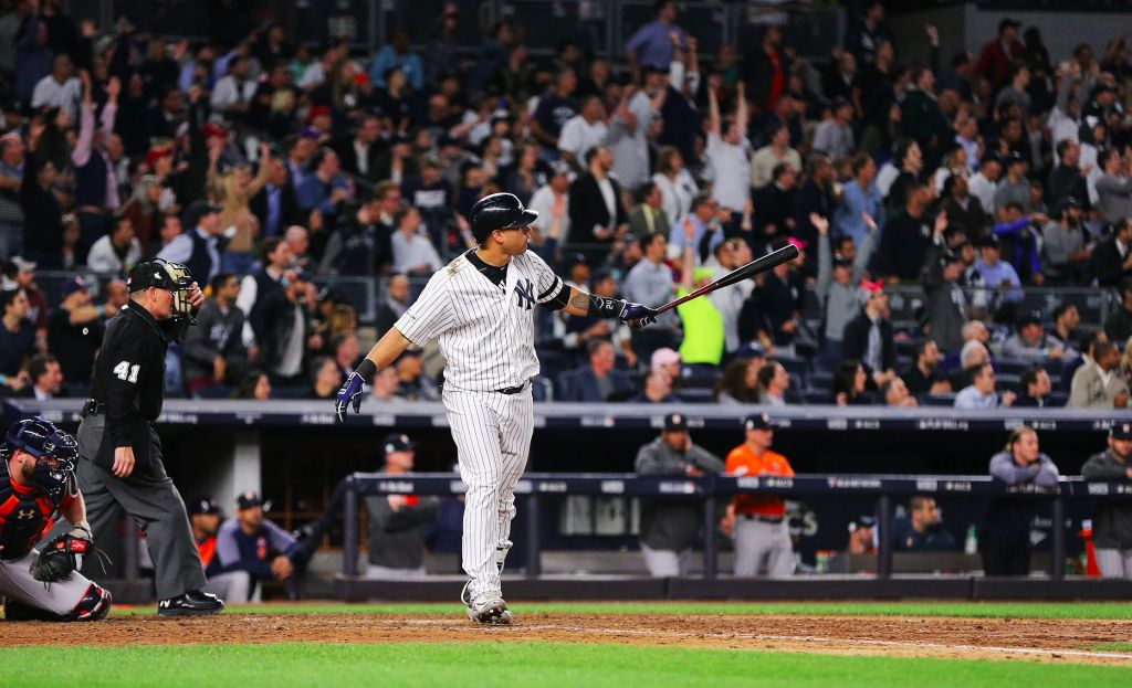 You thought I wasn't going to mention that the Yankees are one win away from going to the World Series? Well you were wrong