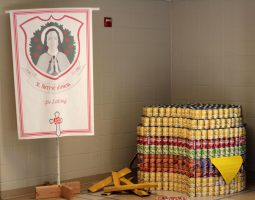 St.Therese of Lisieux Community won first place in the can sculpture contest.