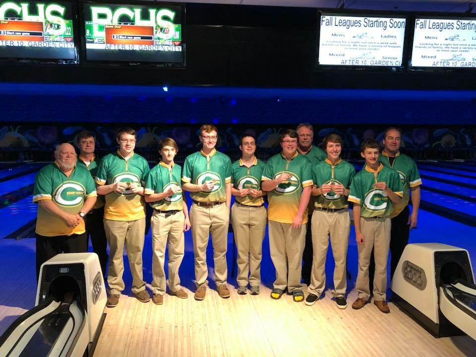 Carroll boys bowling after receiving their first place medals last Saturday