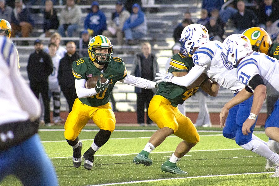 Hunter Trail finds a big lane to run in during BC's continuation of its dominance over Kapaun.