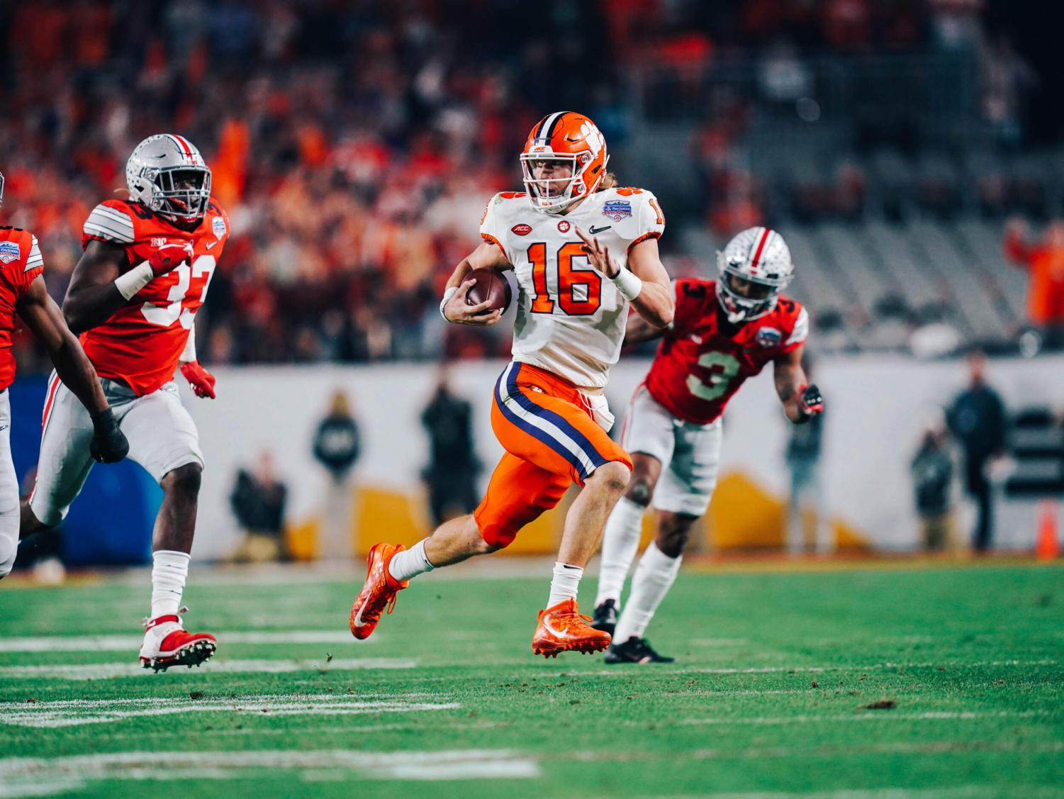 Trevor Lawrence will lead Clemson against LSU in the national championship game.